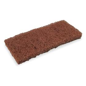 Dust Mop Head: Cut End, 10 in Lg, 4 1/2 in Wd, Washable Poly Blend, Brown, Color Coded, For 606X349/658K359, 5 PK