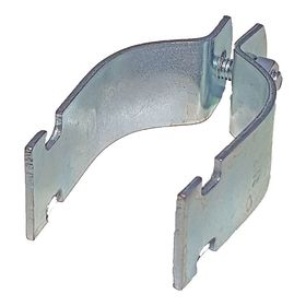 Strut Channel Conduit & Pipe Strap: Steel, 3/4 in For Conduit Trade Size, 3 in Overall Ht, 600 lb Load Capacity, 10 PK