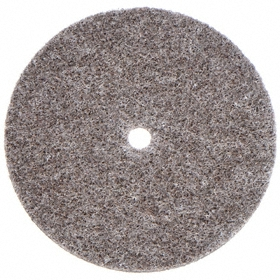 3M Finishing Wheel for Portable Tools: Hard Density Grade, 3 in Wheel Dia, 1/8 in Face Wd, 1/4 in Center Hole Dia