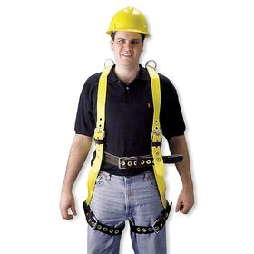 Honeywell Miller Harness: 400 lb Max Load Capacity, Mating, Tongue, Black/Yellow, M Size, 3 D-Rings, Back, Construction