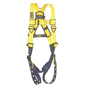 DBI Sala General Purpose Harness: 1 D-Rings, Vest, Stretchable Polyester, 1 Back D-Ring, Steel, 420 lb Max Load Capacity, Mating