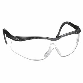 Honeywell Safety Glasses: Clear, Half Frame, Anti-Fog/Anti-Static/Scratch Resistant, Black/Gray, Nylon