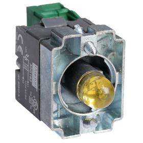 Lamp Module & Contact Block: For Chrome Operators, 1.57 in Overall Lg, Yellow, 2 Haz Material Indicator, LED, (1) Contact Block, Includes Bulb