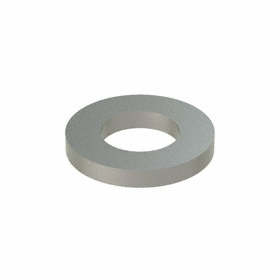 Narrow Flat Washer: 18-8 Stainless Steel, For M6 Screw Size, 6.4 mm ID, 12 mm OD, 1.600 mm Thickness, 50 PK