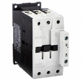 Eaton IEC Magnetic Contactor: 3 Poles, Single/Three Phase, 40 A Current Rating, 24V AC Control Volt, Silver Alloy
