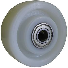 Caster Wheel: Nylon, Ball, 4 7/8 in Wheel Dia, 2 in Wheel Wd, 1650 lb Max Load Capacity, 1/2 in For Axle Dia, Crowned