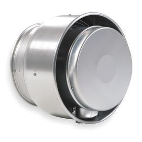 Upblast Roof Ventilator: Contaminated, High Efficiency, Variable Speeds, 115V AC, Single Phase, Wire Leads, 14 3/4 in Wheel Dia