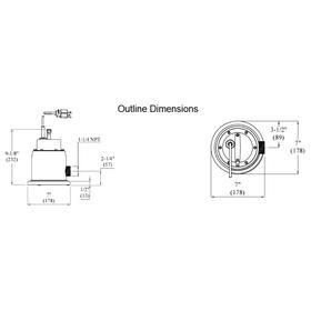 Chemical Resistant Submersible Pump: 1/4 hp Input Horsepower, Manual