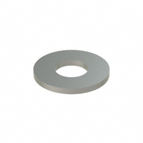 Flat Washer: 18-8 Stainless Steel, For 3/8 in Screw Size, 0.407 in ID, 1.25 in OD, 0.083 in Thickness, 50 PK