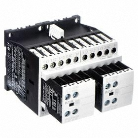 Eaton IEC Magnetic Contactor: 3 Poles, Single/Three Phase, 9 A Current Rating, 120V AC Control Volt, Reversing, Std Body