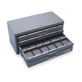 Carbide Inserts Storage Cabinet: Keyed Lock, 360 Pieces Held, 4 Drawers, 12 in Overall Dp, 12 1/2 in Overall Ht
