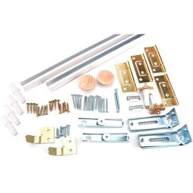Sliding Door Hardware Kit: For Folding Doors, Door Hardware Set, 20 lb Max Load Capacity, Closets/Laundries/Pantries