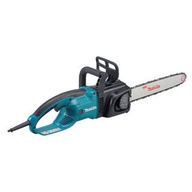Makita Corded Chain Saw: 16 in Guide Bar Lg, 15 A Current, 120V AC, 19 7/8 in Overall Lg, 12.3 lb Tool Wt
