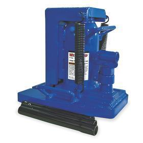 Low & High Clearance Toe Jack: Manual Hydraulic Power Source, Handle, 20000 lb Max Load Capacity, 1 1/8 in Min Lift Ht