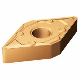 Sandvik Coromant Rhombic (D) 55° Turning Inserts: DNMX Insert, 15 Seat Size, 0° Clearance Angle, Neutral, PVD, 10 PK