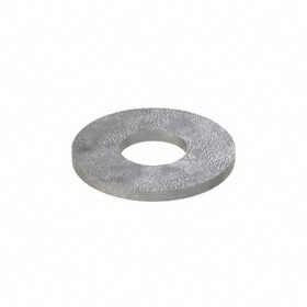 USS Flat Washer: Steel, Galvanized, Low Carbon Material Grade, For 7/8 in Screw Size, 0.875 in ID, 2.25 in OD, 10 PK
