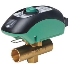 Hydronic Zone Valve: 220° F Max Op Temp, Electronically Actuated Motorized Zone Valve, 125 psi Closeoff Pressure, 4.9 Coefficient of Volume