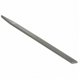 Rectangle Precision Pillar File: Swiss Pattern File, 0 Finish, Tang, Uncoated, 6 in Overall Lg, Double, 0 Cut Edges