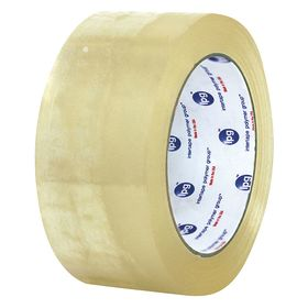 Recycled Corrugated Cardboard Packaging Tape: Polypropylene Backing, Hot Melt Adhesive, 3 in Overall Wd, 3 in Core Dia, 24 PK