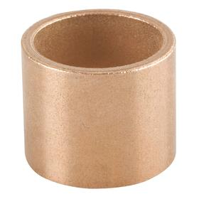 Sleeve Bearing: Inch, SAE 841 Material Grade, Bronze, 1/4 in Bore Dia, 1/4 in Overall Lg, 3/8 in OD, SAE 30, 3 PK