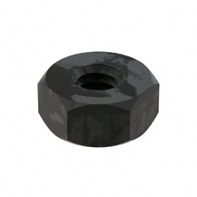 "Machine Screw Hex Nut: Steel, Black Oxide, Grade 2H Material Grade, 1/4""-20 Thread Size, 1/2 in Wd, 15/64 in Ht"