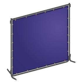 Standard Modular Welding Screen: PVC, Blue, Round, With Grommets, 8 ft Overall Wd, 6 ft Overall Ht, 0.014 in Thickness