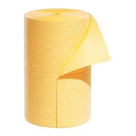 Roll for General Spills: Perforated Roll, 32.4 gal Max Absorbency Volume per Pack, Heavy Absorbency Wt, 24 in Wd, Yellow