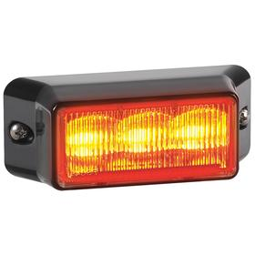 Federal Signal Exterior Vehicle Warning Light: Amber, 3 3/4 in Overall Lg, 1 3/4 in Overall Ht, 12.8 V DC Volt