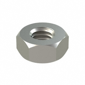 Hex Nut: 316 Stainless Steel, M4 Thread Size, 0.7 mm Thread Pitch, 7 mm Wd, 3 13/64 mm Ht, 50 PK