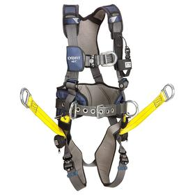 DBI Sala Harness for Positioning & Climbing: 6 D-Rings, Vest, With Belt, Stretchable Polyester, 1 Back, 1 Front, 4 Side D-Rings, Cam
