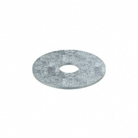 Oversized Flat Washer: Steel, Zinc Plated, Low Carbon Material Grade, For 3/8 in Screw Size, 0.407 in ID, 1.5 in OD, 50 PK