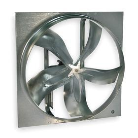 Belt Drive Exhaust Fan: 48 in Fan Blade Dia, Steel, Medium, 32605 cfm Max Air Flow, 54 in Overall Ht, 54 in Overall Wd
