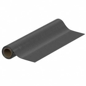 EPDM Sheet: 1/16 in Thickness, 36 in x 25 ft Size (W x L), ASTM D2000 BA, 70A Shore Hardness