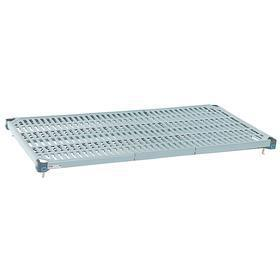 Wire Shelf: 600 lb Max Load Capacity, 18 in Wd, 72 in Dp, Epoxy Coated Steel Frame With Polymer Mats, Blue, 4 PK