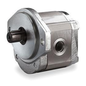 Hydraulic Gear Pumps: 1 1/16-12 Inlet Port Size, 0.49 cu in/rev Displacement, 7.1 gpm Max Flow Rate, 4000 RPM Max Speed