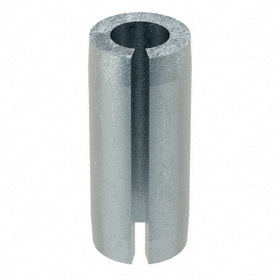 Slotted Spring Pin: Steel, Zinc Plated, 3/16 in OD, Fits 0.187 Min Hole Dia, Fits 0.192 Max Hole Dia, 250 PK