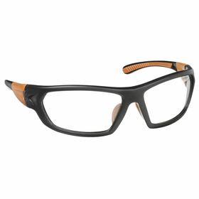 Carhartt Safety Glasses: Clear, Full Frame, Scratch Resistant, Black/Brown, ANSI Z87.1-2010/CSA Z94.3-2007, Nylon