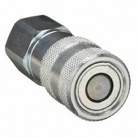 Parker Hannifin Quick-Disconnect Socket: HTMA (ISO 16028), 3/8 in Coupling Size, Steel, Non Locking, 3/8 Pipe Size, NPTF