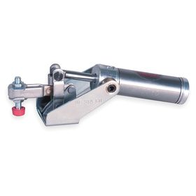 Air-Powered Toggle Clamp: Horizontal, Steel, 6 in Clamping Clearance, Hold-Down Action, 5 1/2 in Overall Lg