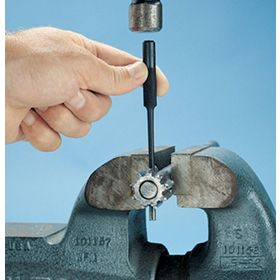Hollow & Spring Pin Installation & Removal Punch: Hollow & Spring-Pin Removal Punch, 3/16 in Tip Size, Raised Ball