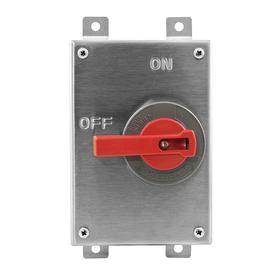 Hubbell Wiring Device-Kellems Enclosed Disconnect Switch: Three Phase, 3 Poles, Stainless Steel, 30 A @ 600V AC Switch Rating