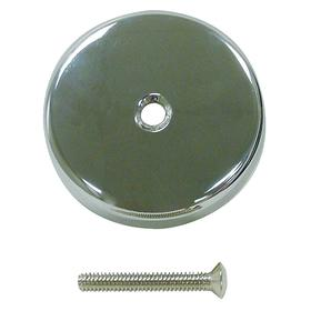Tub Overflow Plate: Die Cast, Chrome, Tub & Shower Repair, Silver, Commercial/Residential