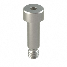 Precision Shoulder Screw: 400 Series Stainless Steel, Hex Socket, 3/16 in Shoulder Dia, 8-32 Thread Size, 5 PK