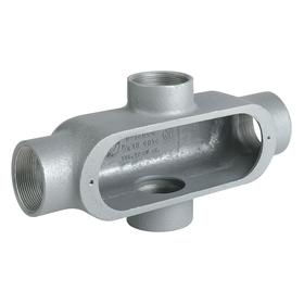 Hubbell Conduit Outlet Body: 3/4 Trade Size, 7 cu in Capacity, Aluminum, Electrostatic Powder Coating, Gray, Threaded
