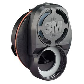 3M DIN Port Adapter Assembly: Respiratory Protection, Black, For Full face Respirators, 60 Haz Material Indicator