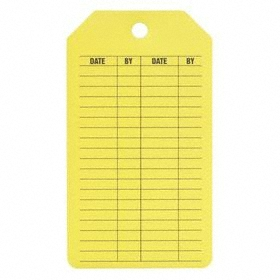Inspection Tag: Crane Inspection, 5 3/4 in Overall Ht, 3 1/4 in Overall Wd, Cardstock, 25 PK