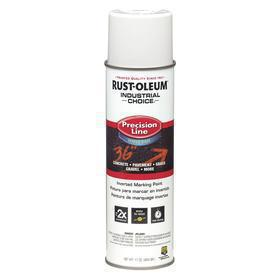 Rust-Oleum Inverted Spray Paint: White, 2 hr Dry Time, 600 to 700 ft (1 in Stripe), 17 fl oz Container Size, +40° F Min Application Temp
