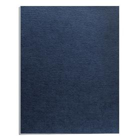 Binding Cover: 11 in Ht, 8 1/2 in Wd, Linen, Navy, Square, For Any Non-Thermal Binding Machine, 200 PK