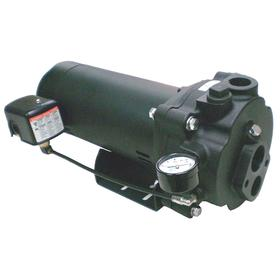Convertible Well Jet Pump: 1/2 hp Input Horsepower, Cast Iron, Thermoplastic, 1 Phase, 115/230V AC, 8 Vanes, Bare Leads