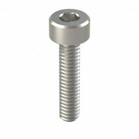 Socket Cap Screw: 316 Stainless Steel, 8-32 Thread Size, 3/4 in Shank Lg, Fully Threaded, 0.27 in Head Dia, 100 PK